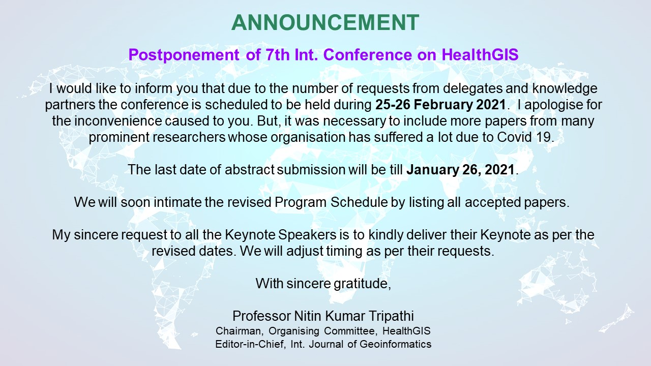 Postponement of HealthGIS