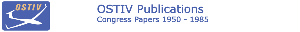 'OSTIV Publications' contain papers and comments from congresses from 1950 through 1985